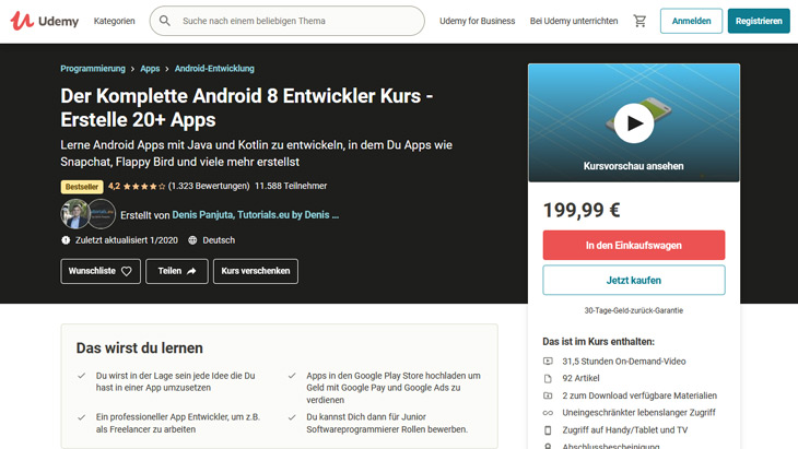 android apps programmieren lernen udemy kurs-1